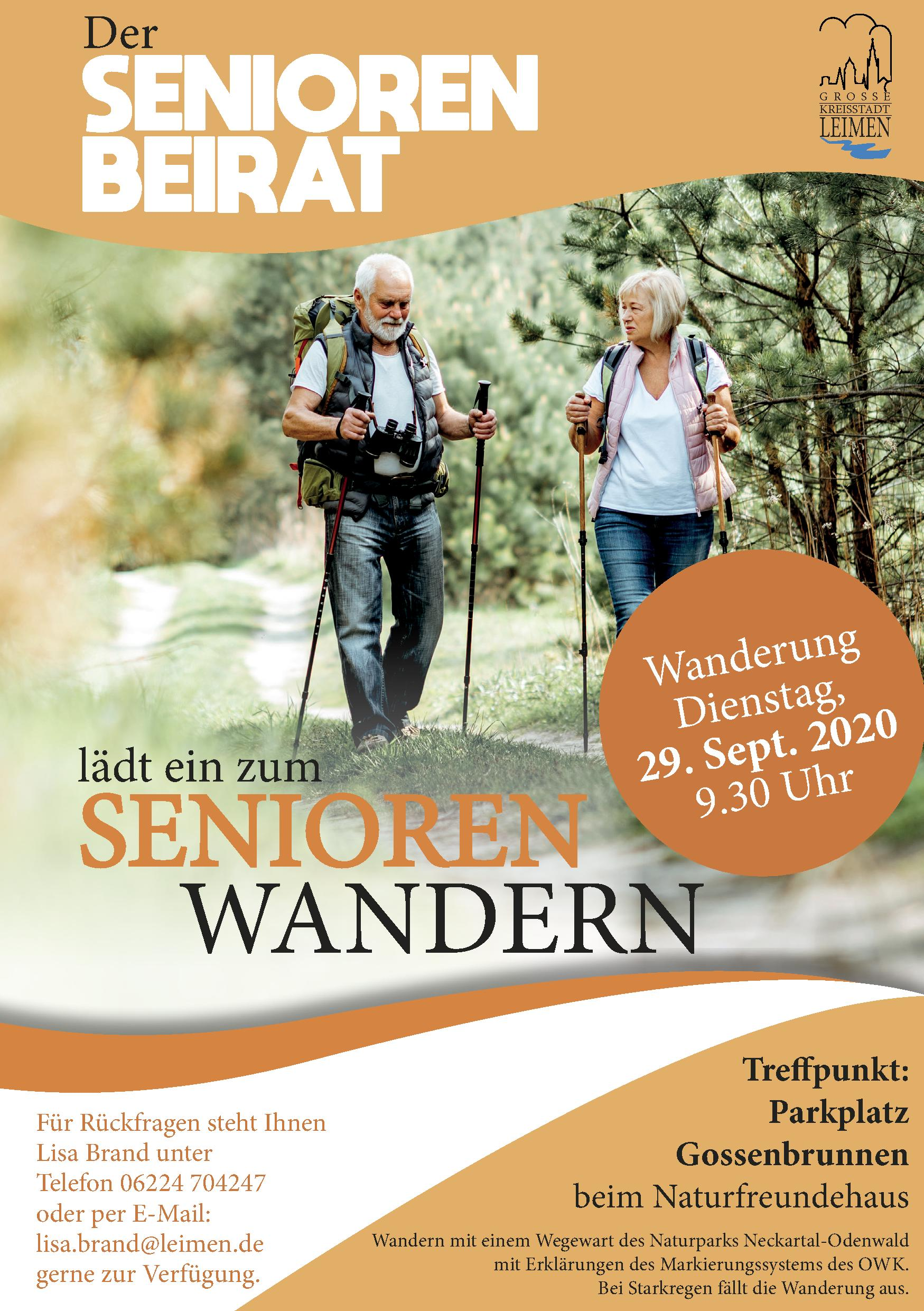 Seniorenwandern am 29. Sept. 2020